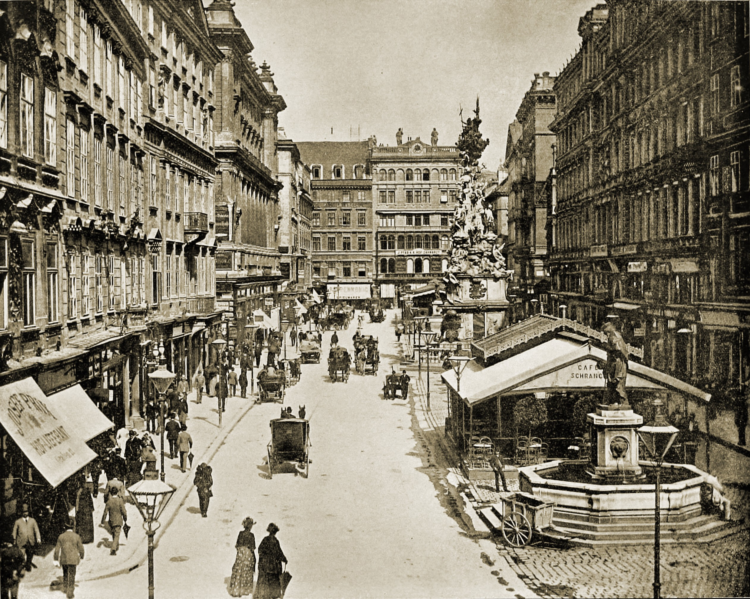 The Graben Vienna Austria about 1892