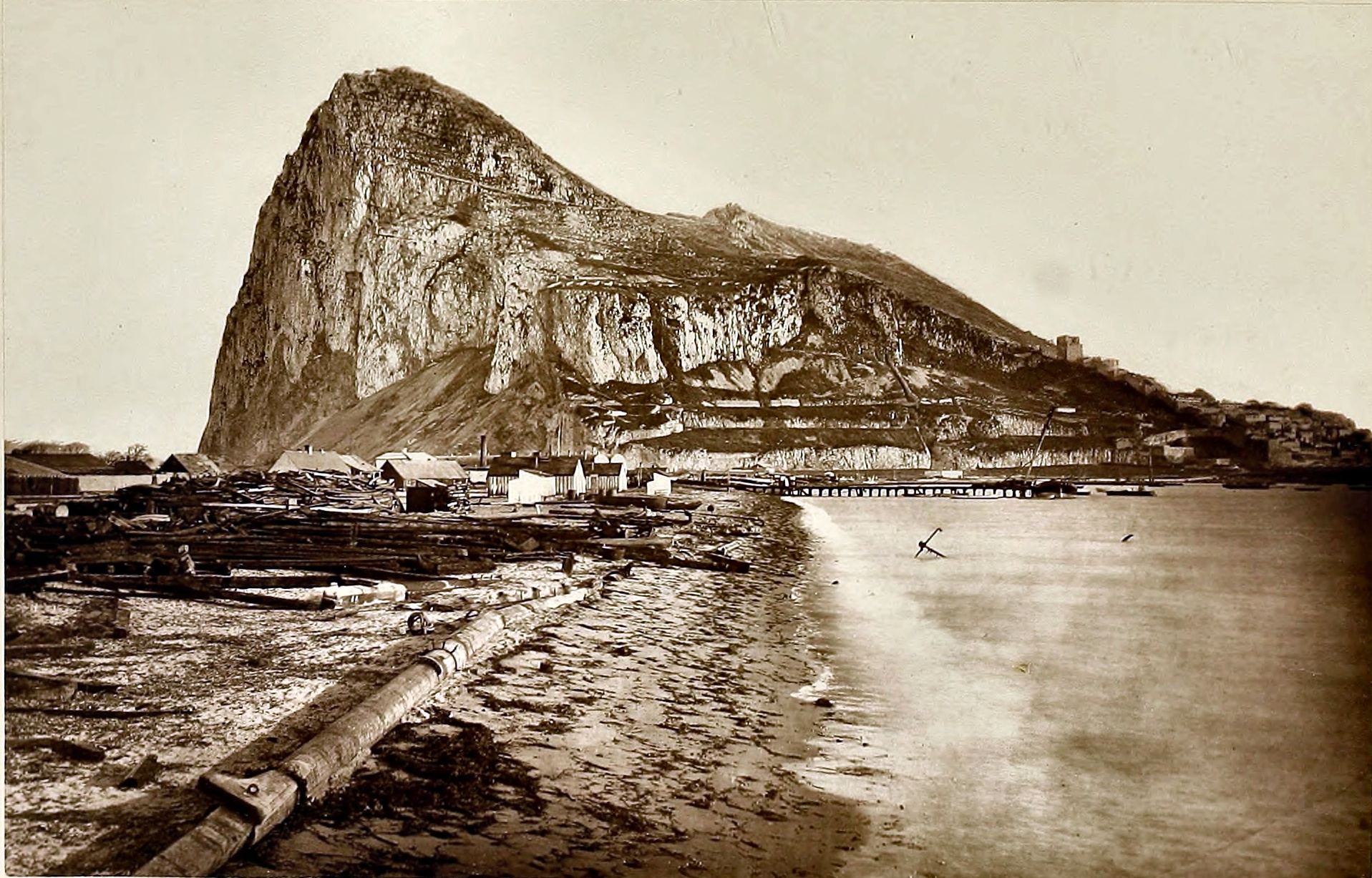 The Rock of Gibraltar about 1875