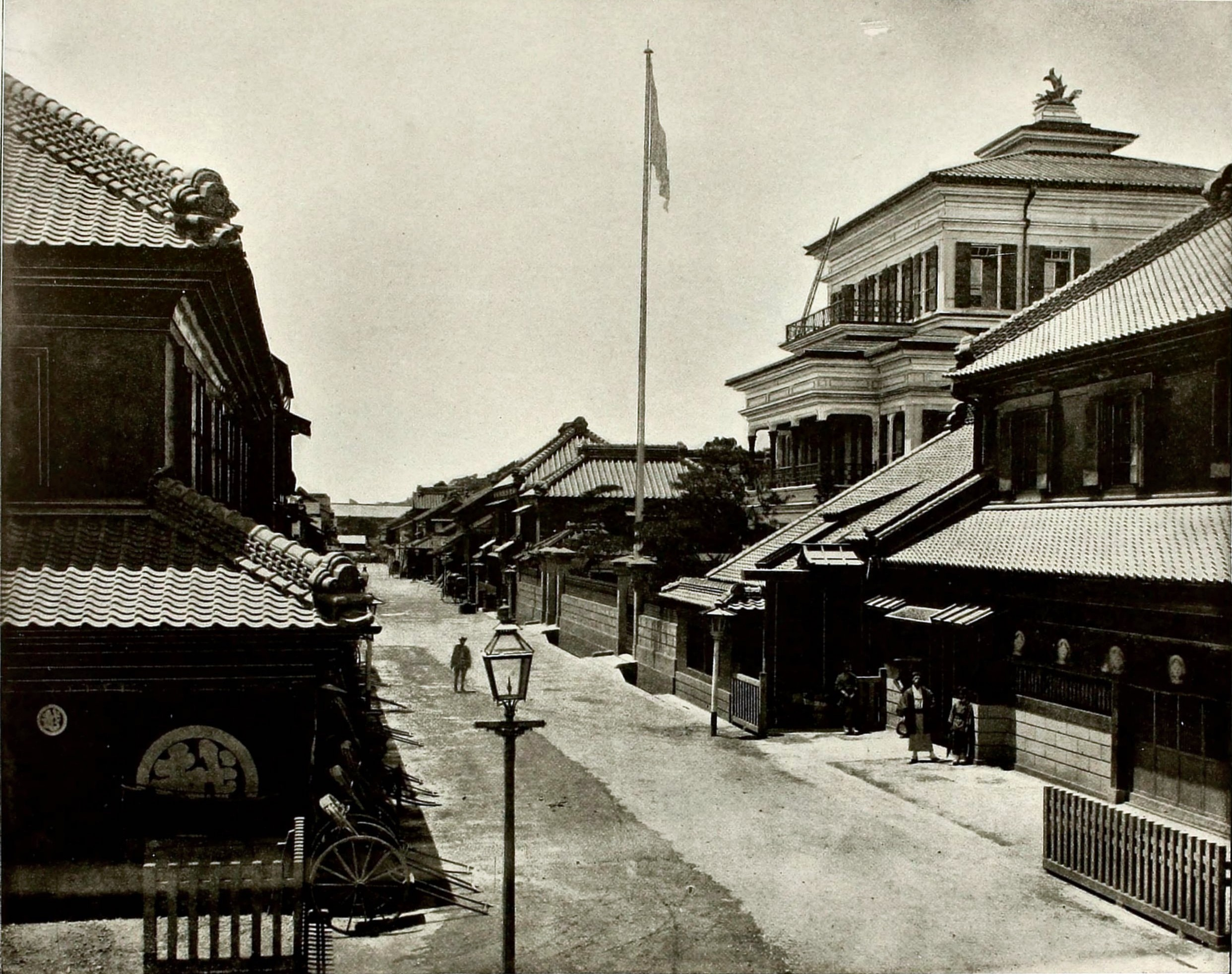 Street in Tokyo Japan about 1892