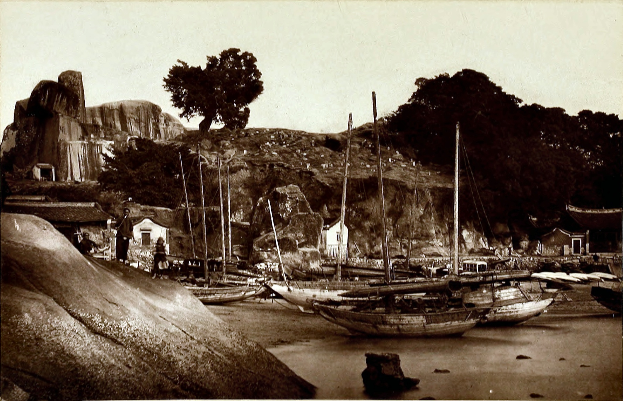 Xiamen Harbor, China about 1870 by John Thomson (1837 – 1921) Scottish photographer