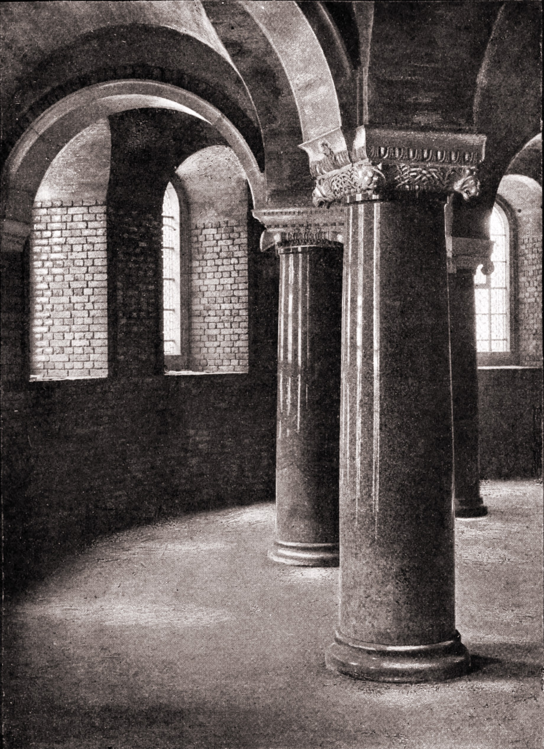 In the crypt, Westminster Cathedral, London by A. Lockett about 1923