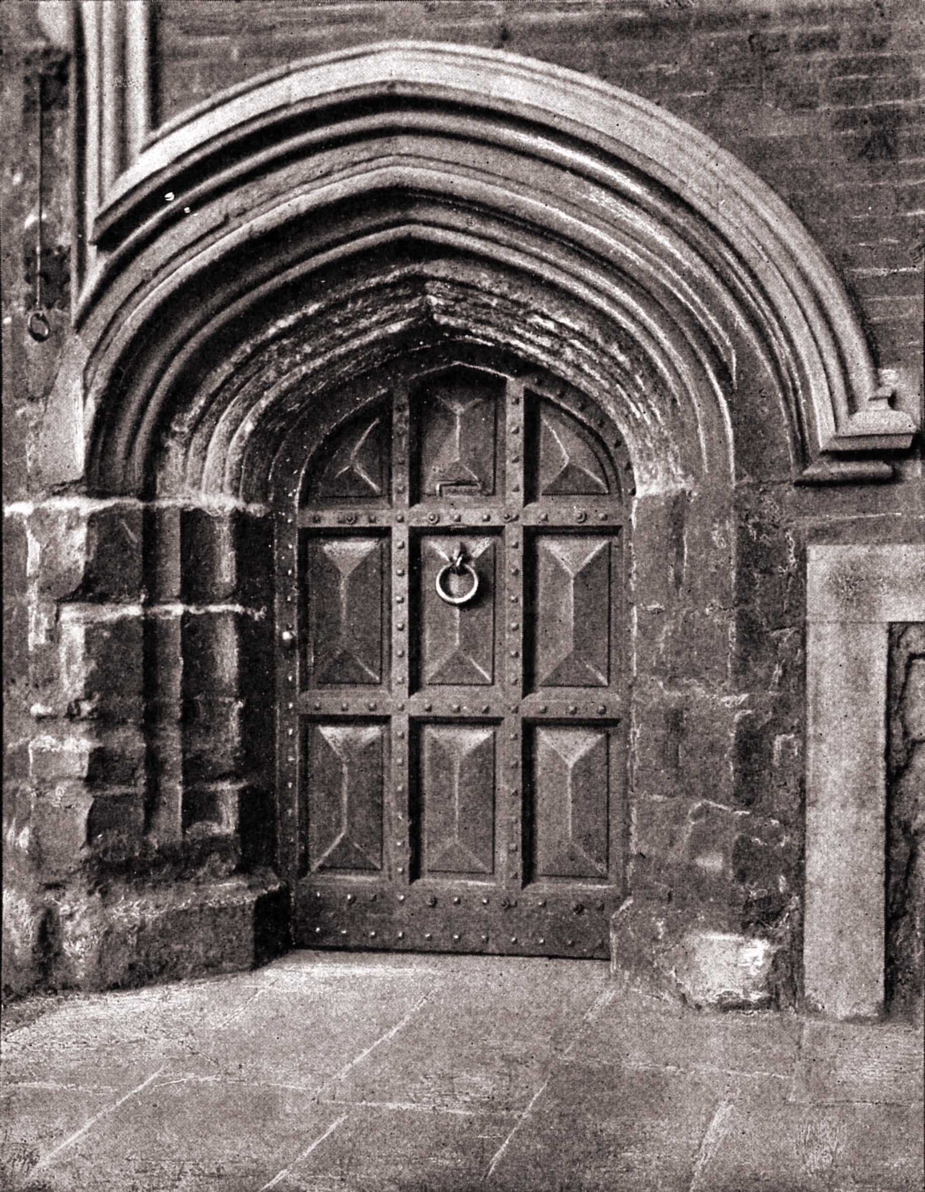 Postern door, Lambeth Palace, London by A. Lockett about 1923