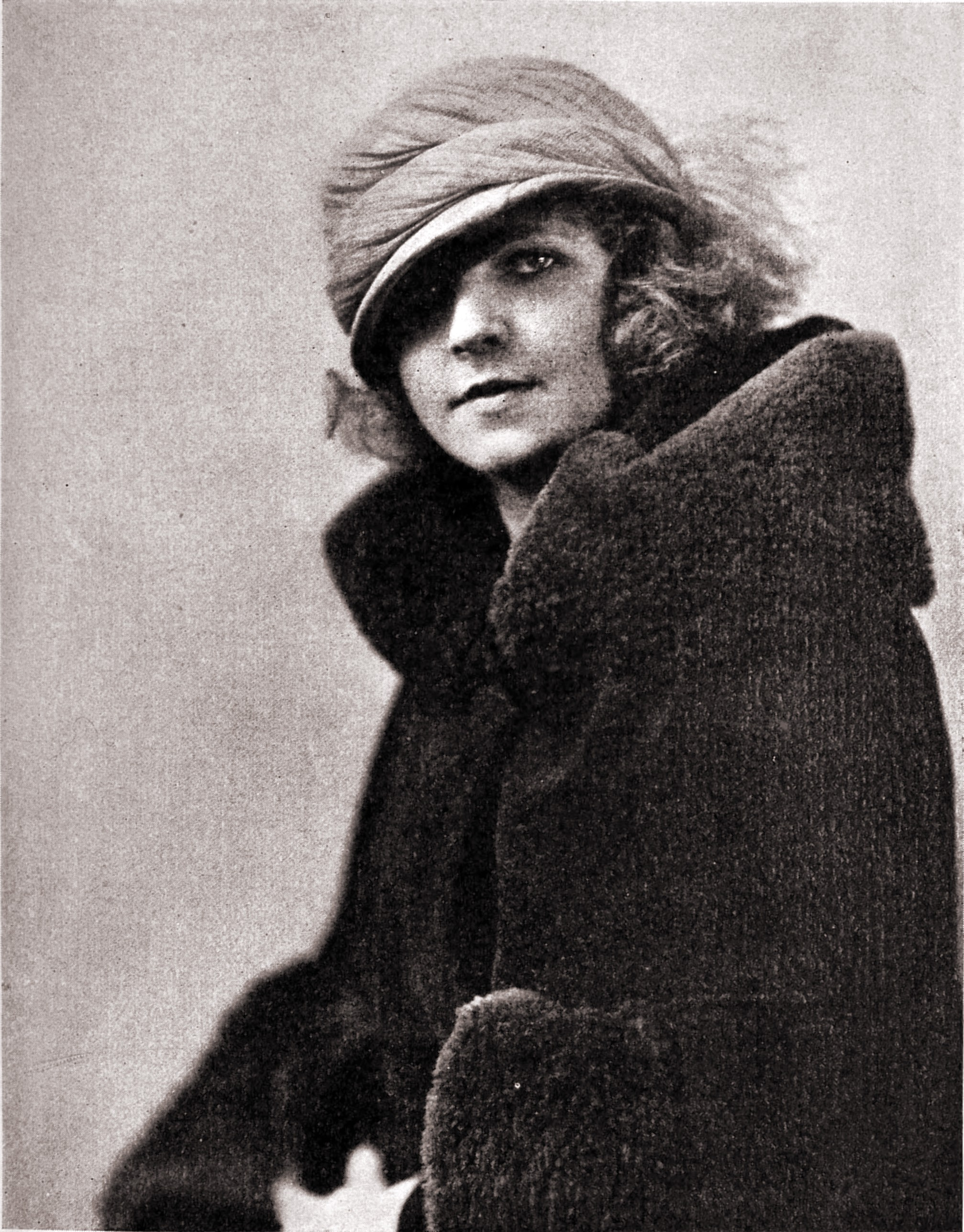 Woman in fur by William Shewell Ellis about 1923