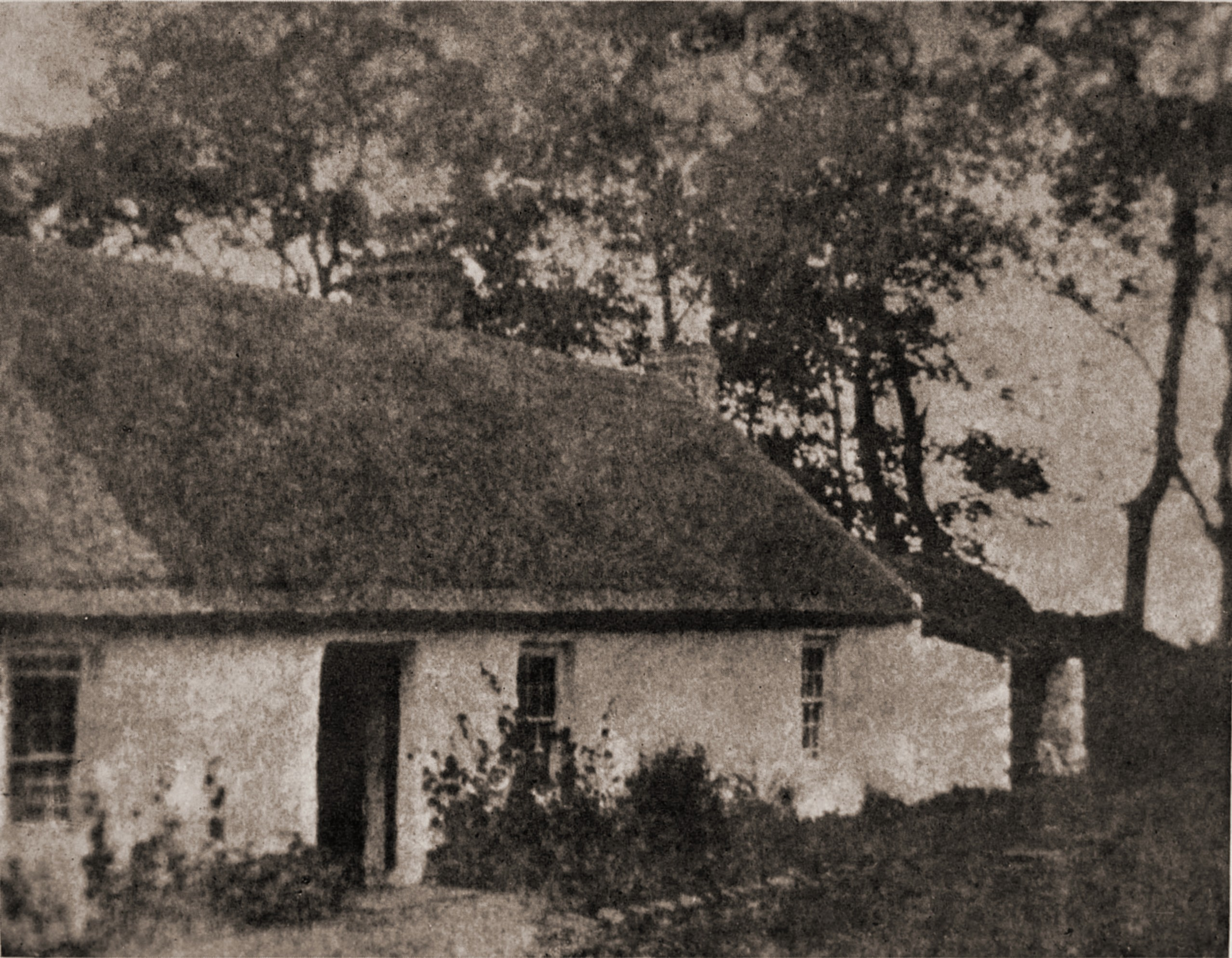 Irish thatched cottage by Josephine M. Wallace about 1923