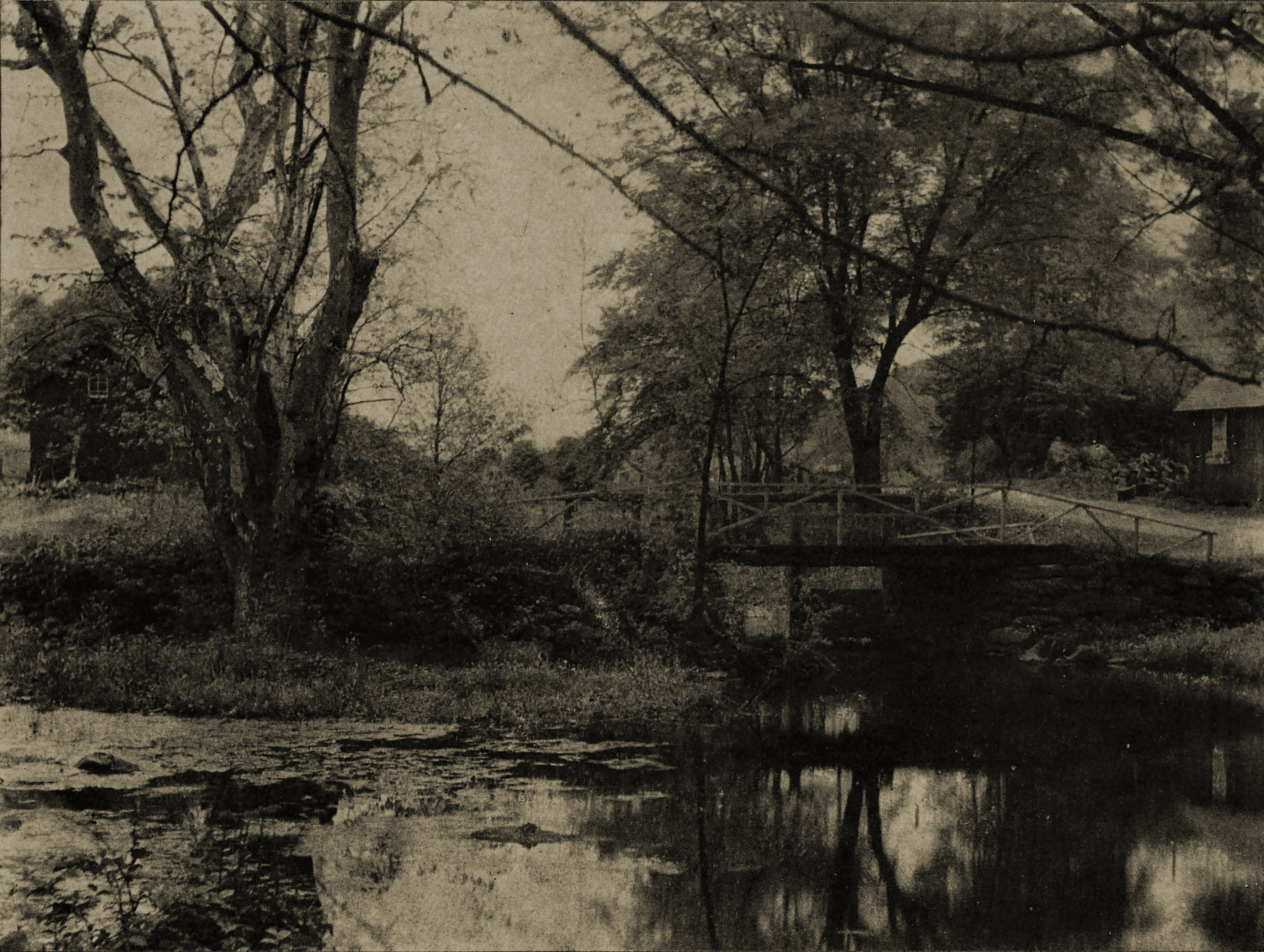 A quiet stream by John Beeby about 1908