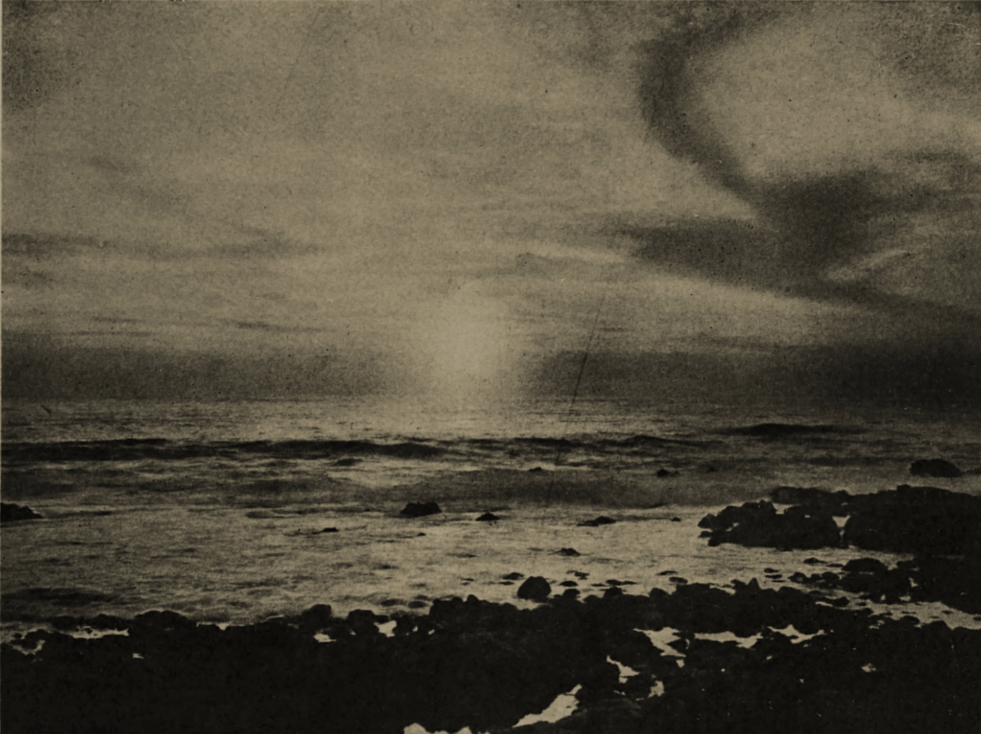Carmel: sunset from Point Lobos by Edgar A. Cohen about 1908