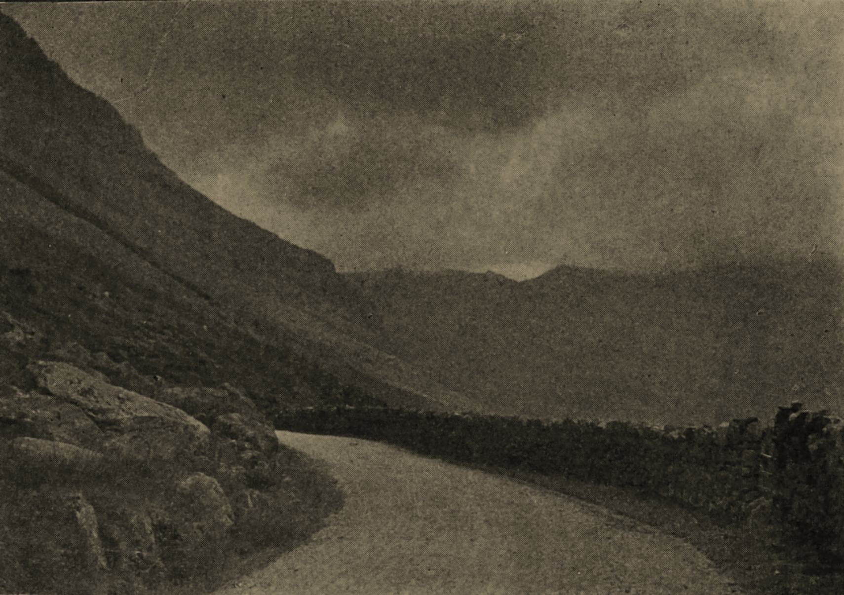 The Nant Ffrancon Pass (North Wales) by V. Serin about 1908