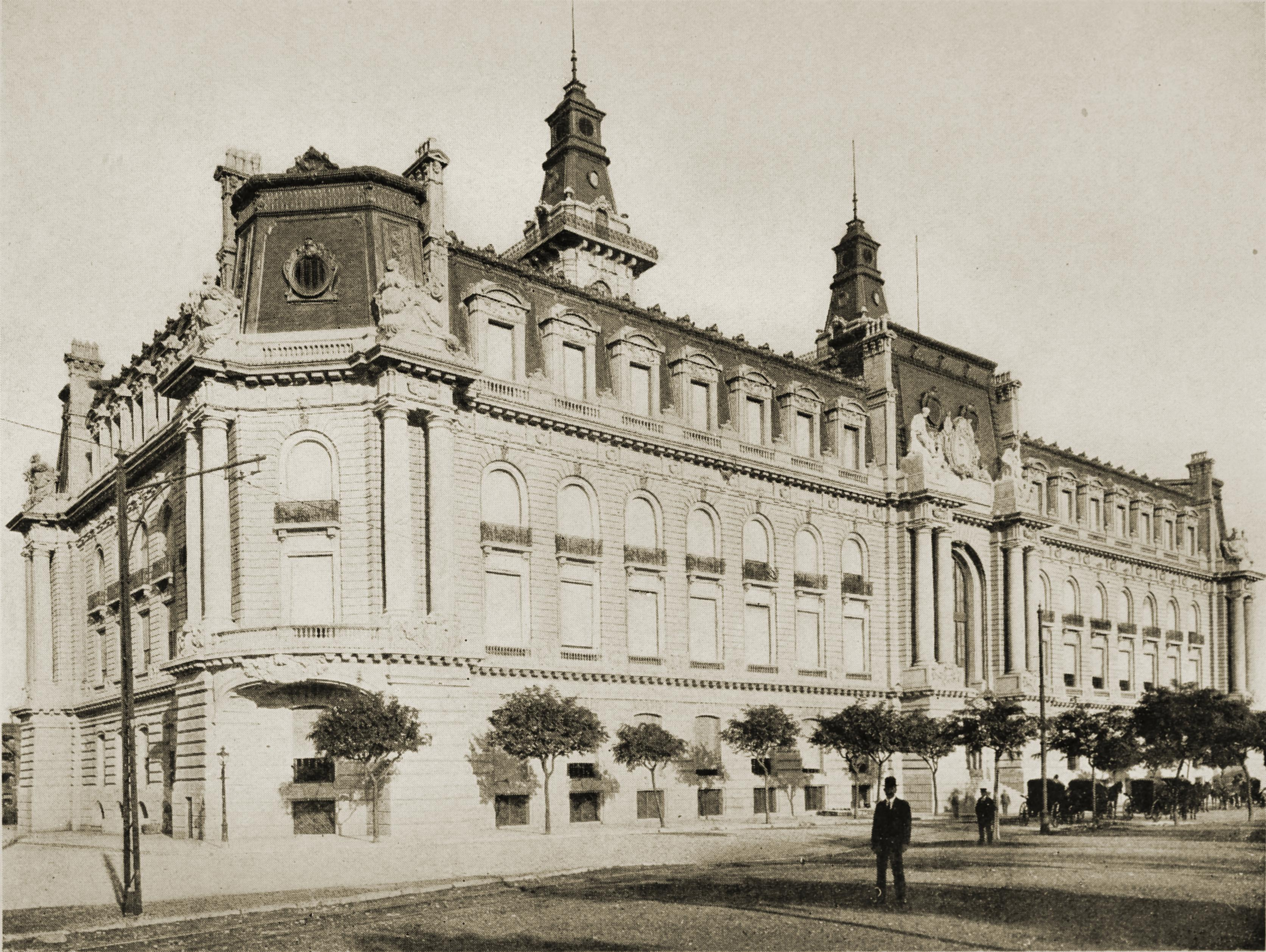 Aduana (Custom House), Buenos Aires, Argentina about 1917