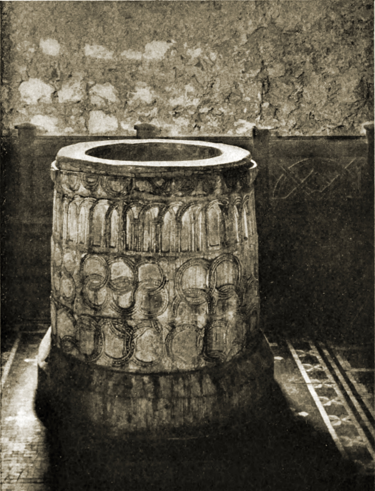Saxon Font, St. Martin's Church Canterbury