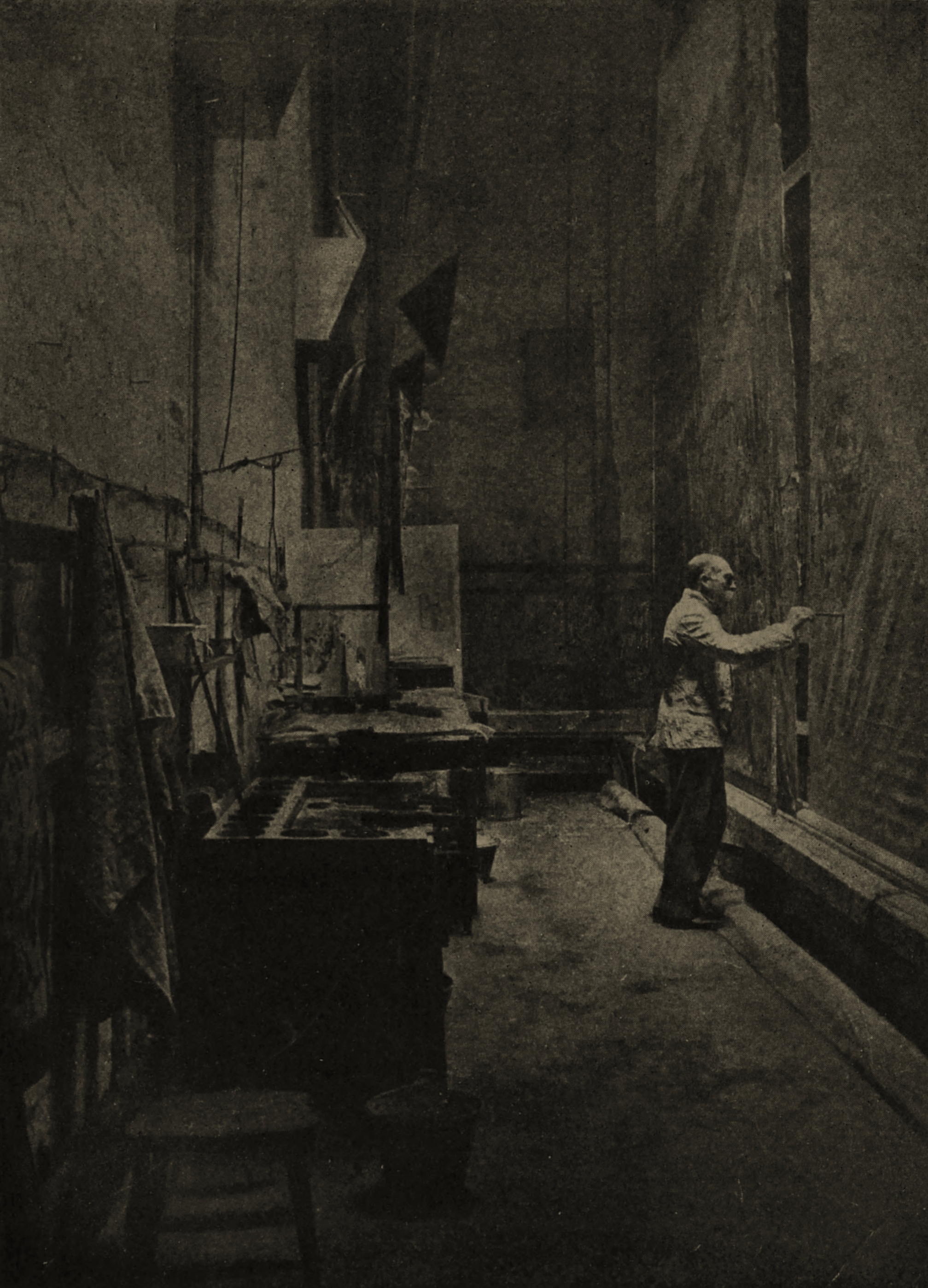 The Scene Painter by Arthur Elliott about 1908