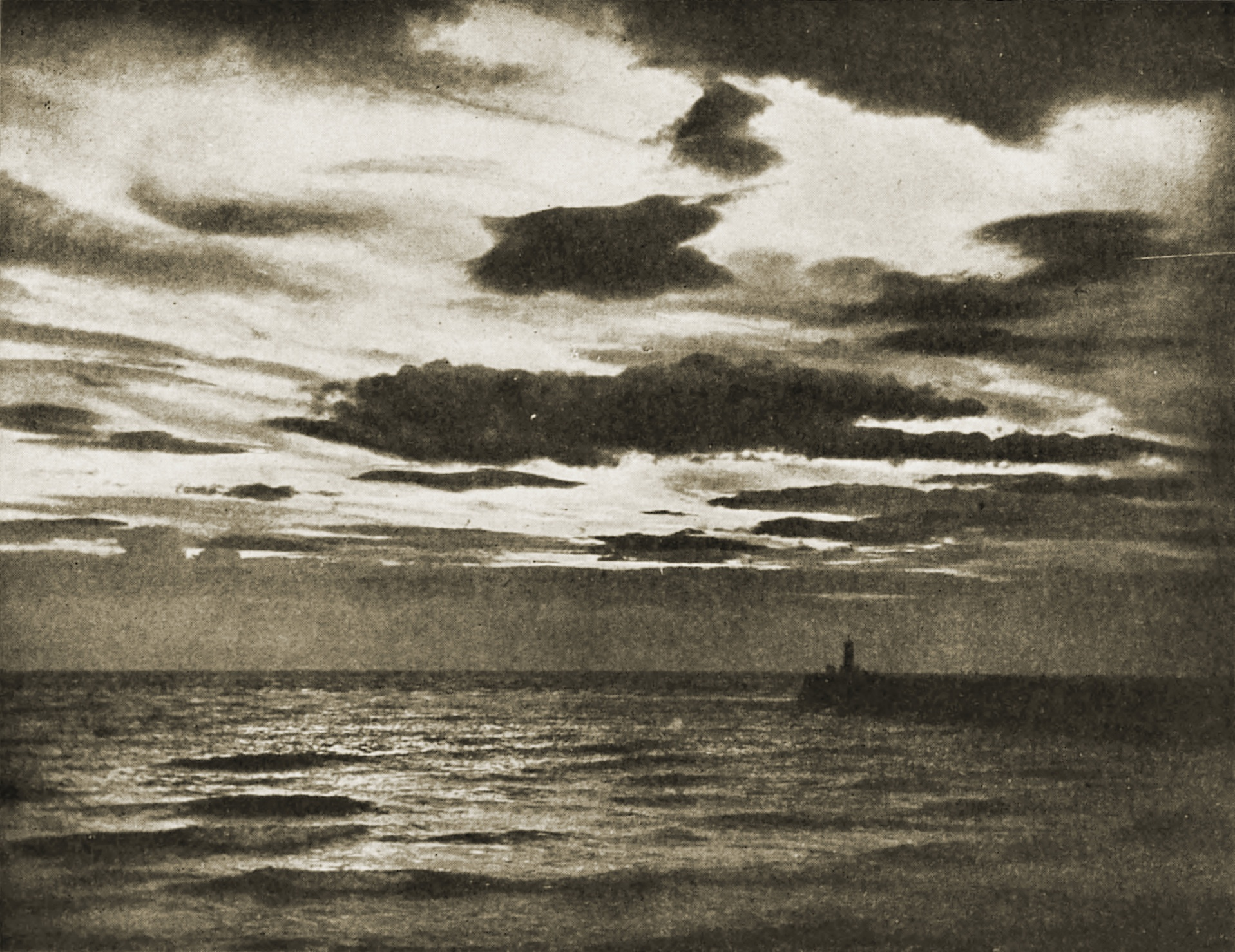 Sunset: Ayr Pier, Scotland by George Smith about 1908
