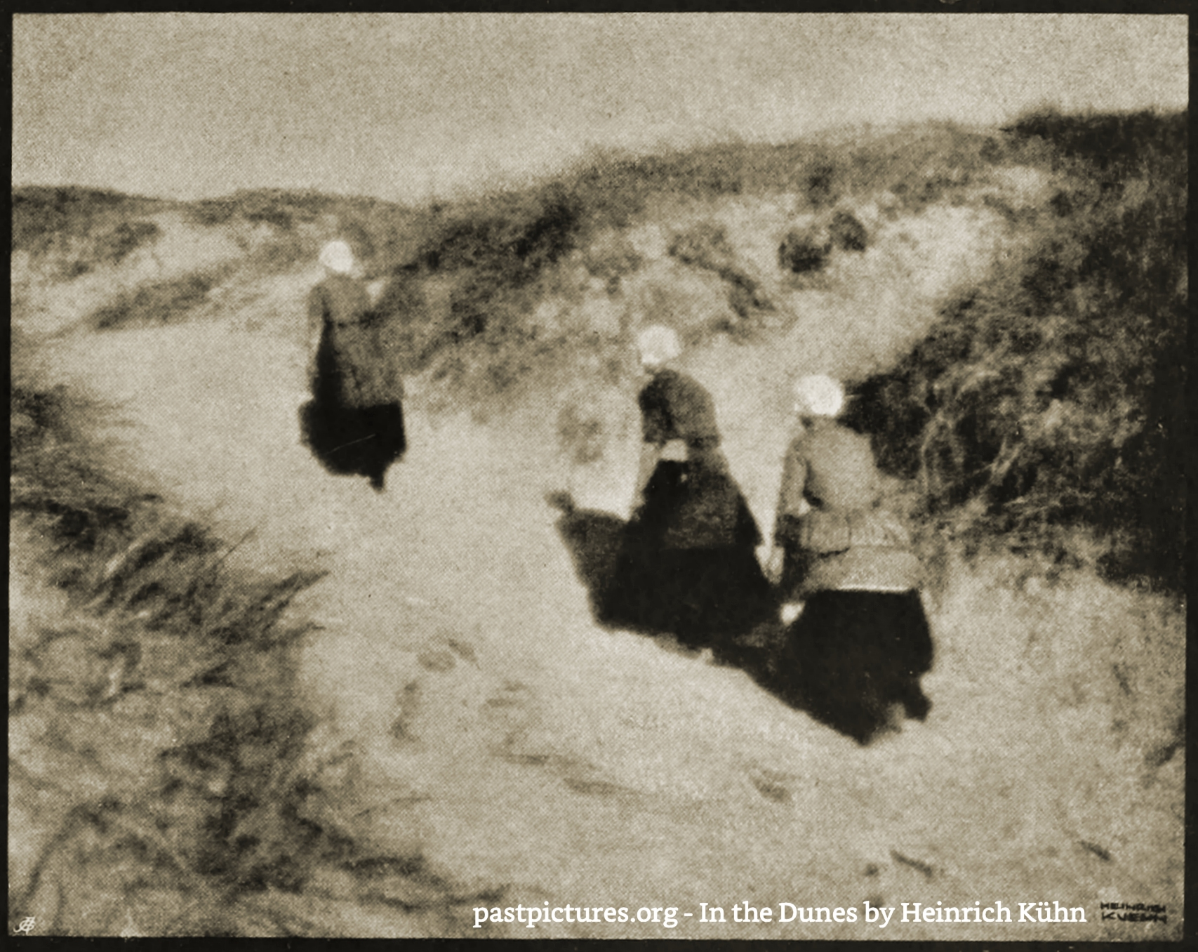 In the Dunes by Heinrich Kühn about 1905