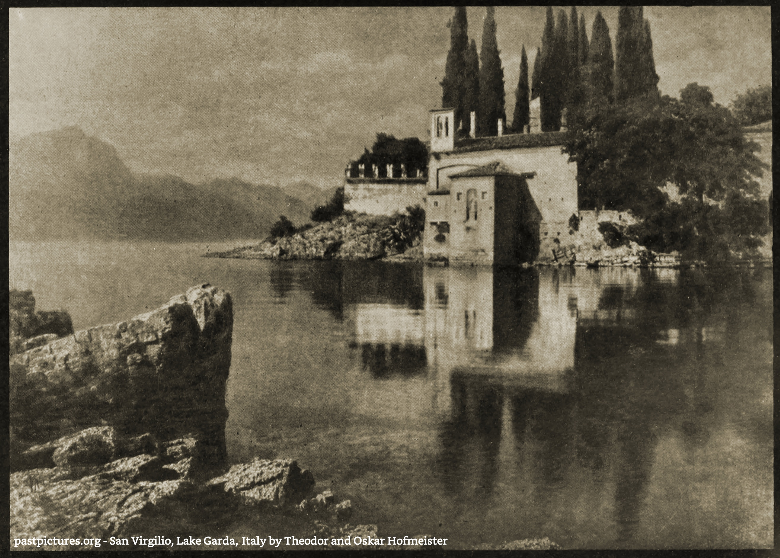 San Virgilio, Lake Garda, Italy by Theodor and Oskar Hofmeister about 1900