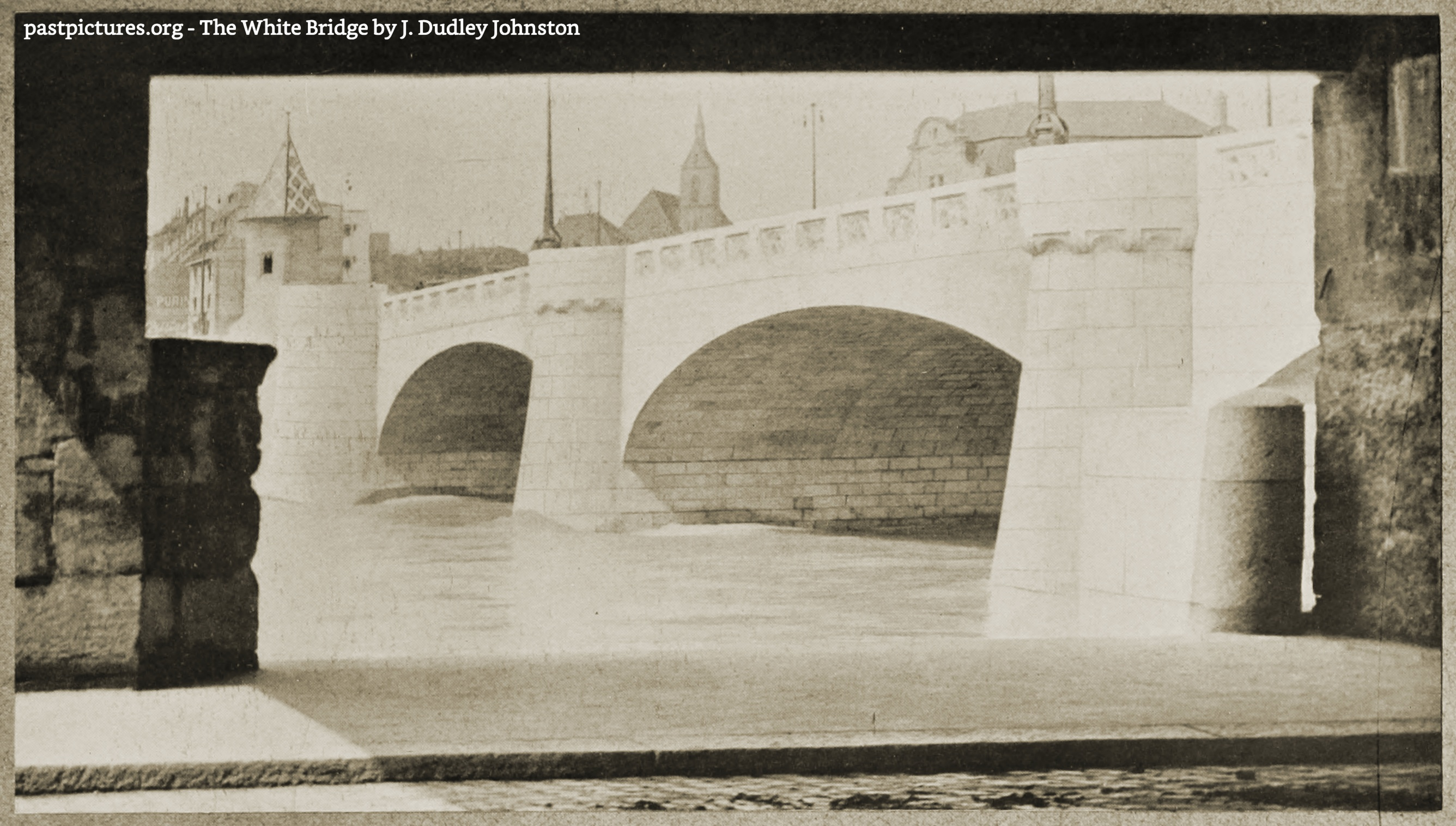 The White Bridge by J. Dudley Johnston about 1900