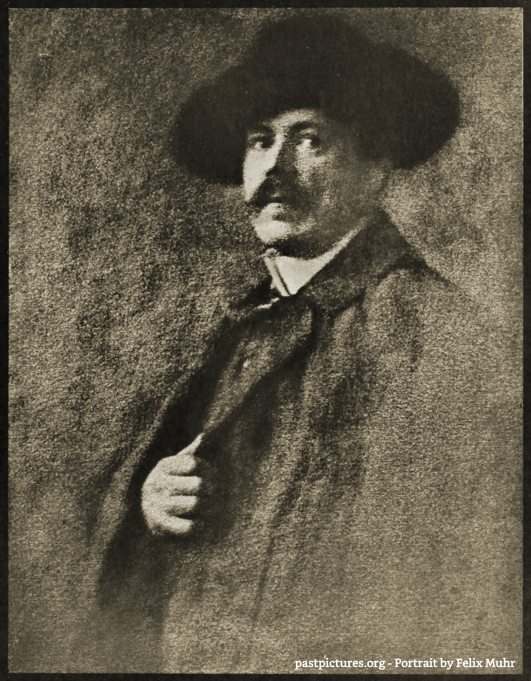 Portrait by Felix Muhr about 1908