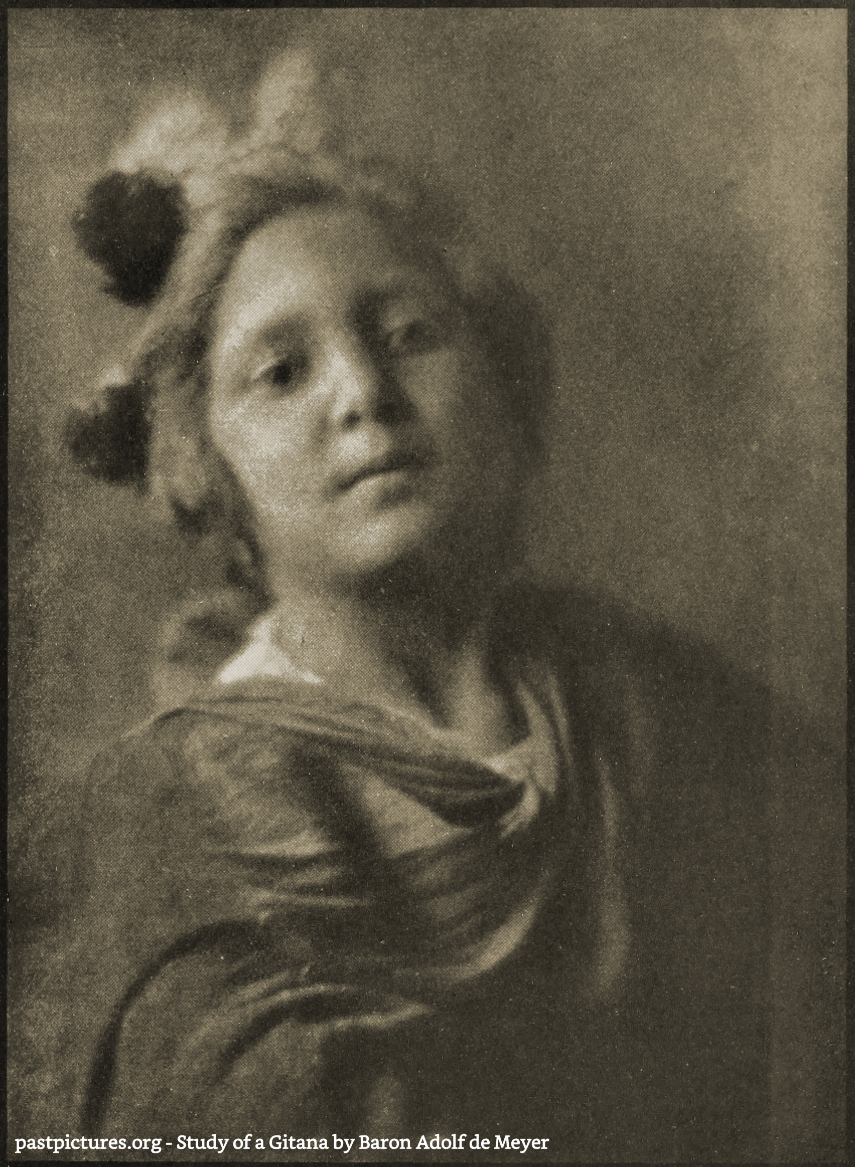 Study of a Gitana by Baron Adolf de Meyer about 1908