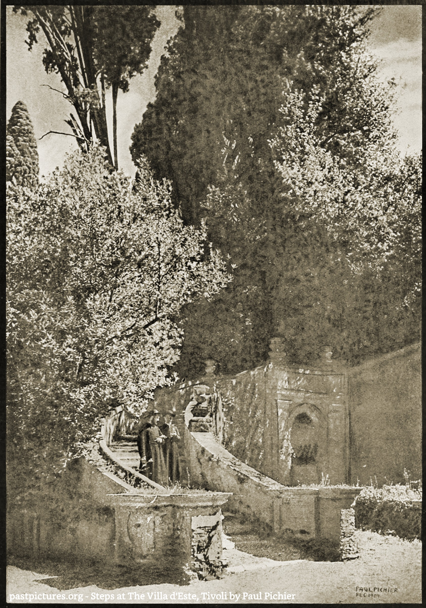 Steps at The Villa d'Este, Tivoli by Paul Pichier 1907